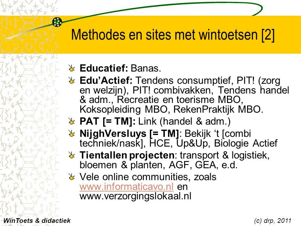 Methodes en sites met wintoetsen [2]